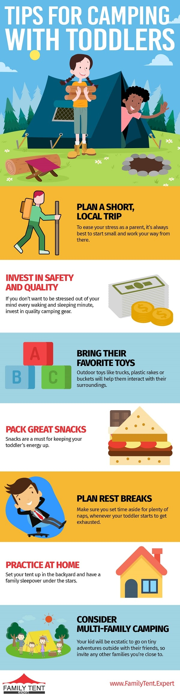 tips for camping with toddlers